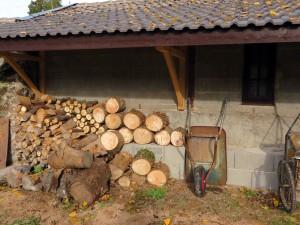 De houtstapel groeit weer een beetje