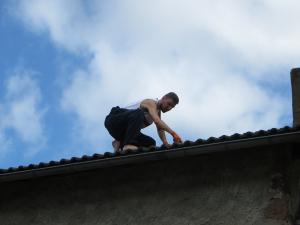 Op het dak