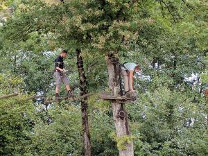 Uiteindelijk werd het beter en gingen we de boom in