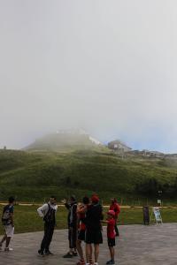 Puy de Dome met het puntje nog in de mist