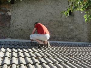 Inspectie van het dak