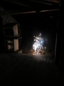 Met wat vuurwerk het oudjaar uit