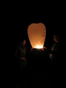 Een wensballon v oor het nieuwe jaar