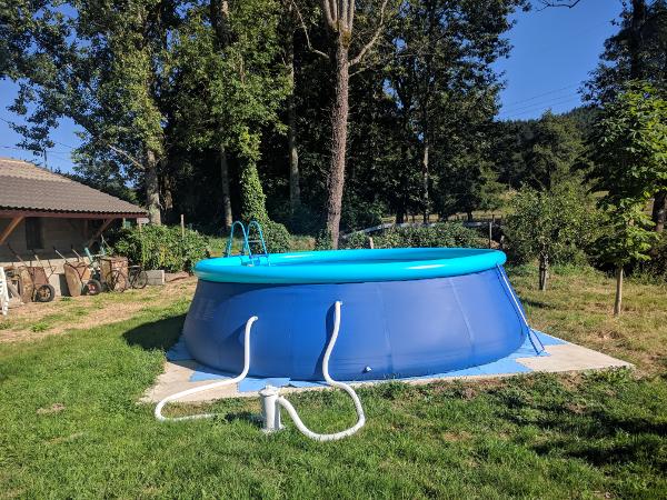 Het nieuwe zwembad