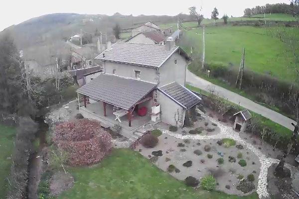 De eerste foto met de drone