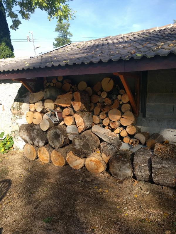 De opgeruimde houtstapel