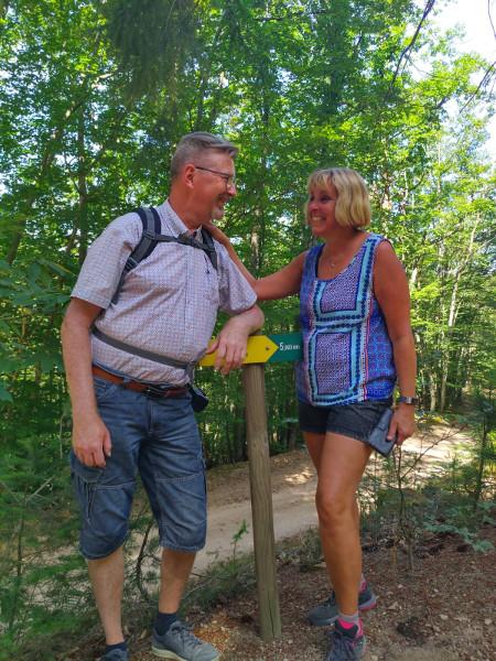 Wandeling in het bos