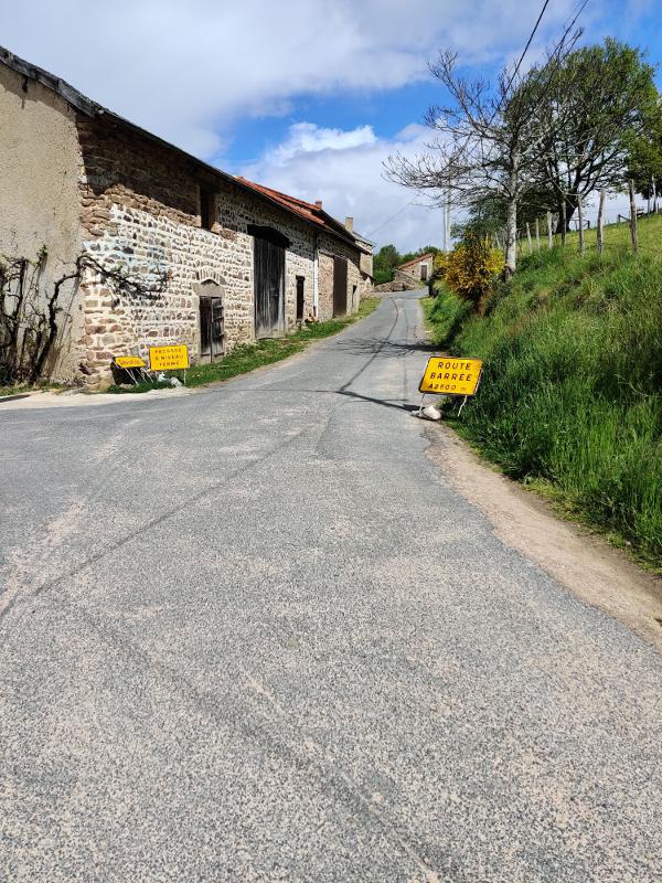 De weg was geblokkeerd