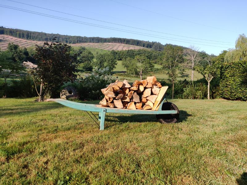 Gevulde kar met hout